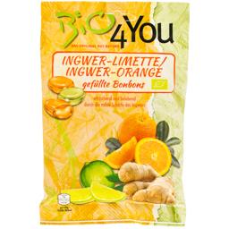 Dropsuri bio cu ghimbir, portocale, limete 75g