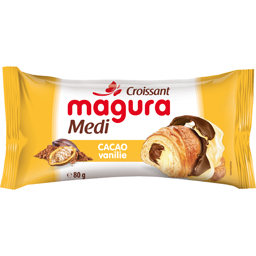 Croissant cu umplutura de cacao si vanilie 80g