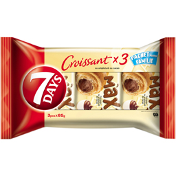 Croissant cu crema de cacao 3x85g