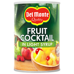 Cocktail de fructe in sirop usor indulcit 420g