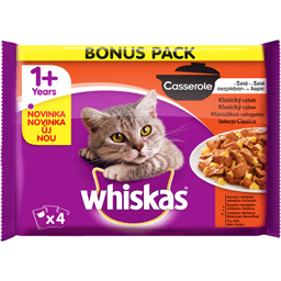Meniu cu carne la plic, pentru pisici 4x85g