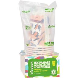 Pahare biodegradabile & compostabile 240ml, 15 bucati