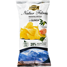 Chips din cartofi cu ulei de masline extra virgin 100%,sare de Himalaya si quinoa 150g