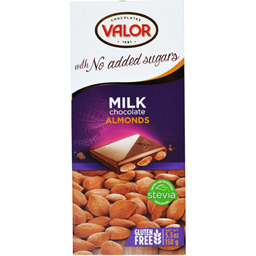 Ciocolata cu lapte si migdale fara zahar 150g