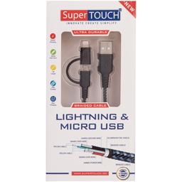 Cablu ultra rezistent 2in1 Micro USB & Lightning
