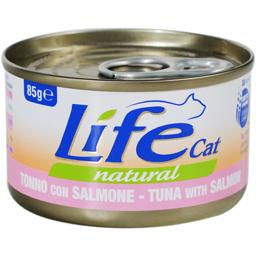 Hrana umeda conserva pentru pisici cu ton si somon 85g