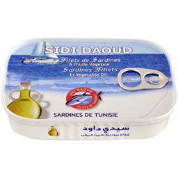 File de sardine in ulei vegetal 100g