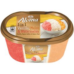 Inghetata cu aroma de pepene galben, pepene rosu si vanilie 505g