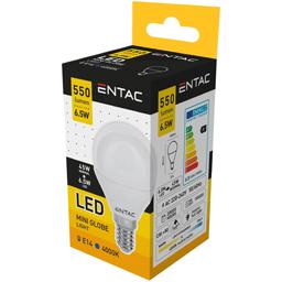 Bec LED Mini Glob, E14 6.5W (45W) 4000K