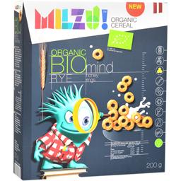Cereale cu secara inele cu miere bio Mind 200g