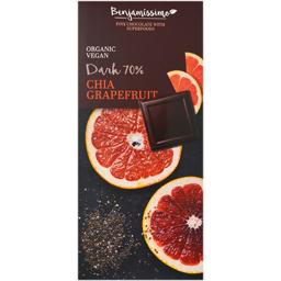 Ciocolata 70% cacao cu chia si grapefruit 70g