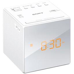 Radio cu ceas ICF-C1, alb