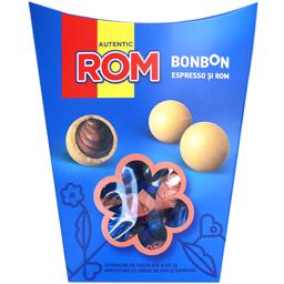 Praline de ciocolata alba cu rom si espresso 130g