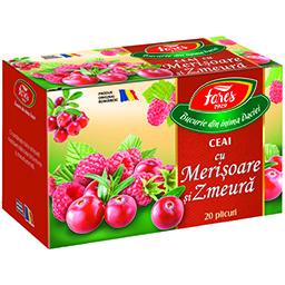 Ceai aroma din fructe,plante cu merisoare si zmeura 20x2g