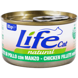 Hrana pisici conserva cu pui si vita 85g