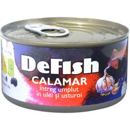 Calamar intreg in ulei si usturoi 170g
