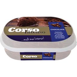 Inghetata de ciocolata cu bucati de ciocolata si decoratiuni de ciocolata 360g
