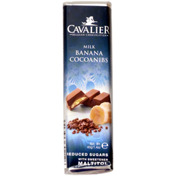 Baton de ciocolata cu crema de banane si cacao, fara zahar 40g