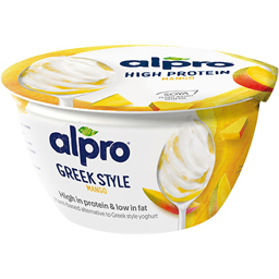 Iaurt grecesc fermentat cu soia si mango 150g