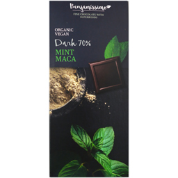 Ciocolata 70% cacao cu menta si maca 70g