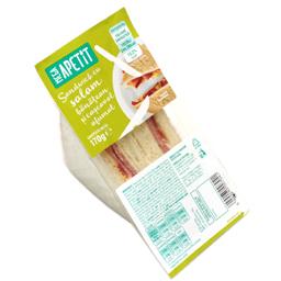 Sandwich cu salam banatean si cascaval afumat 170g