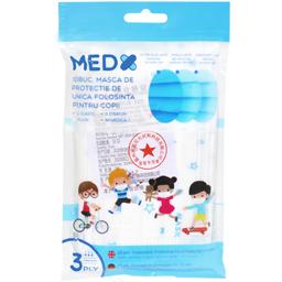 Masca de protectie pentru copii, de unica folosinta, 10 bucati