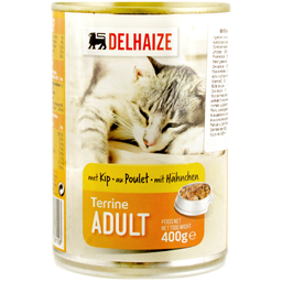 Hrana pentru pisici adulte cu aroma de pui si peste 400g