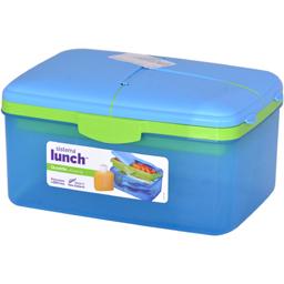 Caserola Lunch din plastic cu 3 compartimente 2l, diverse culori