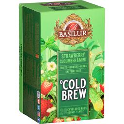 Ceai Cold Brew Strawberry, Cucumber & Mint, fara cafeina 20x2g