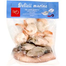 Mix pentru gratar cu tentacule de calamar, baby sepie si creveti Vannamei 500g