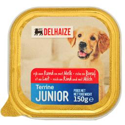 Hrana umeda pentru caini Junior cu carne si lapte 150g