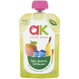 Piure pentru copii cu mere,afine si banane bio 100g