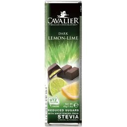 Baton de ciocolata neagra cu stevie,lamaie si limee 40g