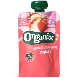 Piure eco mere si capsunisi iaurt 100g