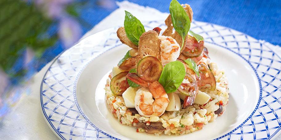 Salata de creveti cu baza de conopida