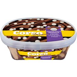 Inghetata de ciocolata cu sos de cacao si bezele 511g