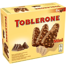Inghetata cu ciocolata cu lapte, nugat, miere si migdale 6x50ml
