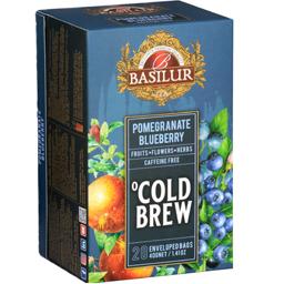 Ceai Cold Brew Pomegranate Blueberry, fara cafeina 20x2g
