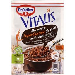 Mix pentru gustare de ovaz cu ciocolata neagra 61g