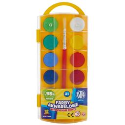 Acuarele 12 culori pastila