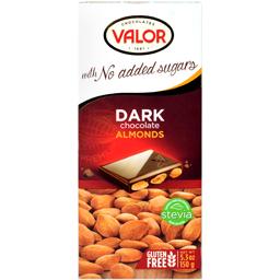 Ciocolata neagra cu migdale fara zahar 150g
