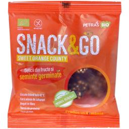 Snack eco cu portocale si seminte germinate 40g
