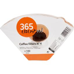 Filtre de cafea Nr. 4, 100 bucati
