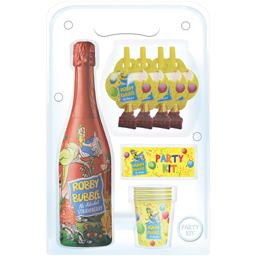 Robby Bubble Party Kit capsuni 750 ml