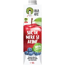 Suc de mere si afine 100% natural 1L