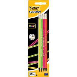 Creioane grafit cu radiera, 4 bucati