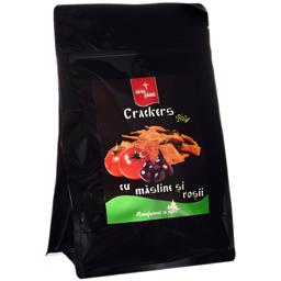 Crackers bio cu masline si rosii 150g