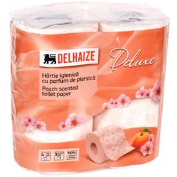Hartie igienica 4 role 3 straturi cu parfum de piersica