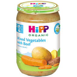Meniu mix de legume si carne de vita  220g