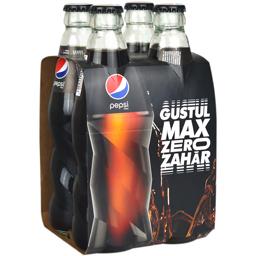 Bautura racoritoare carbogazoasa Max Zero Zahar 4x300ml